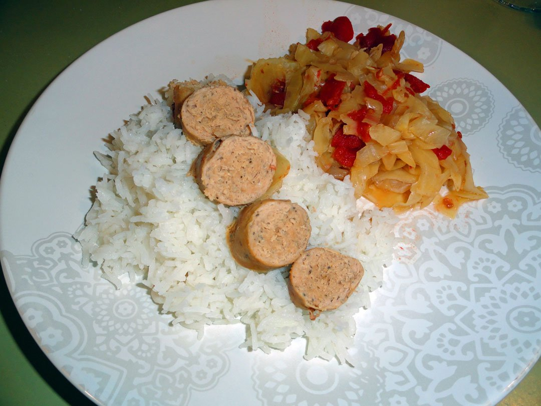 crock pot cabbage and sausage