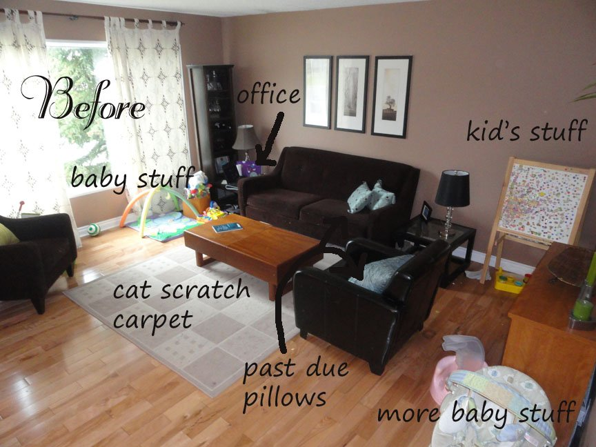 Living room makeover before for Diy living room designs