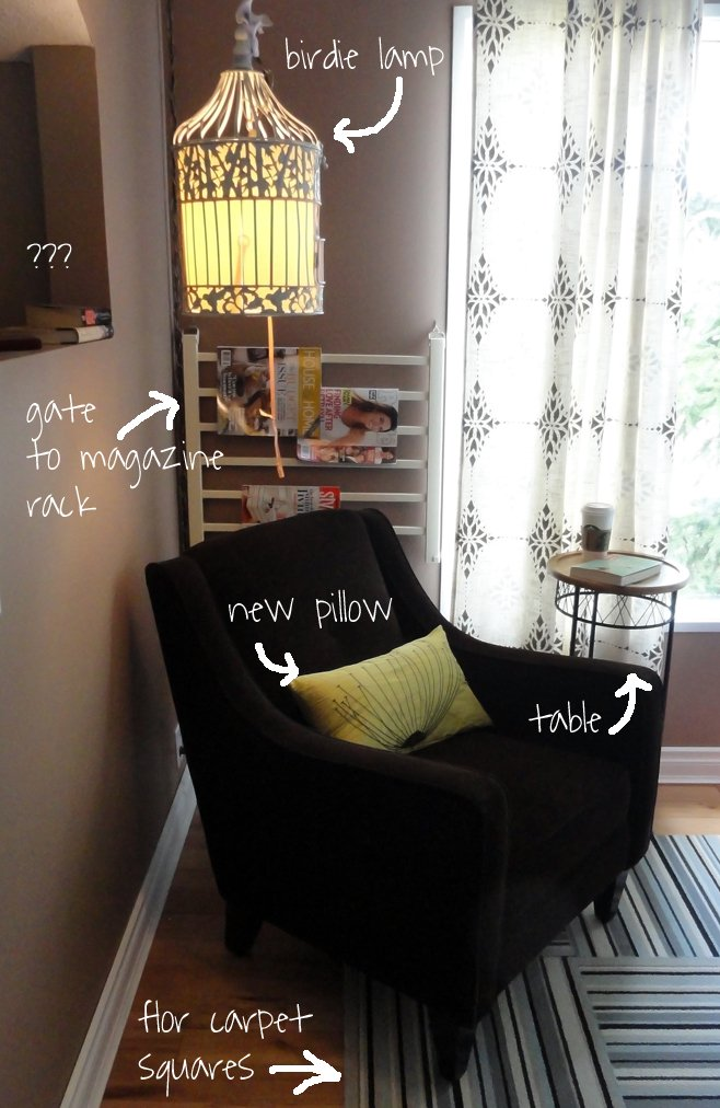 makeover after - reading corner