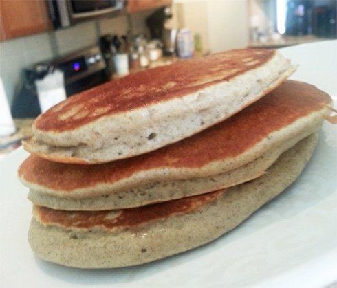 buckwheat pancake stack