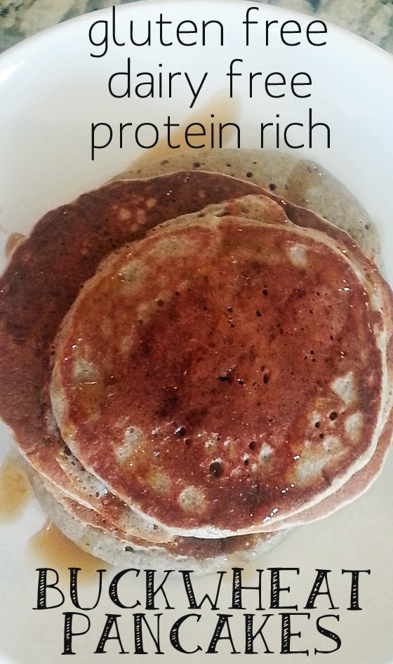 these fluffy pancakes are protein rich and gluten free.  They were fantastic!