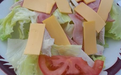 cheese slice salad