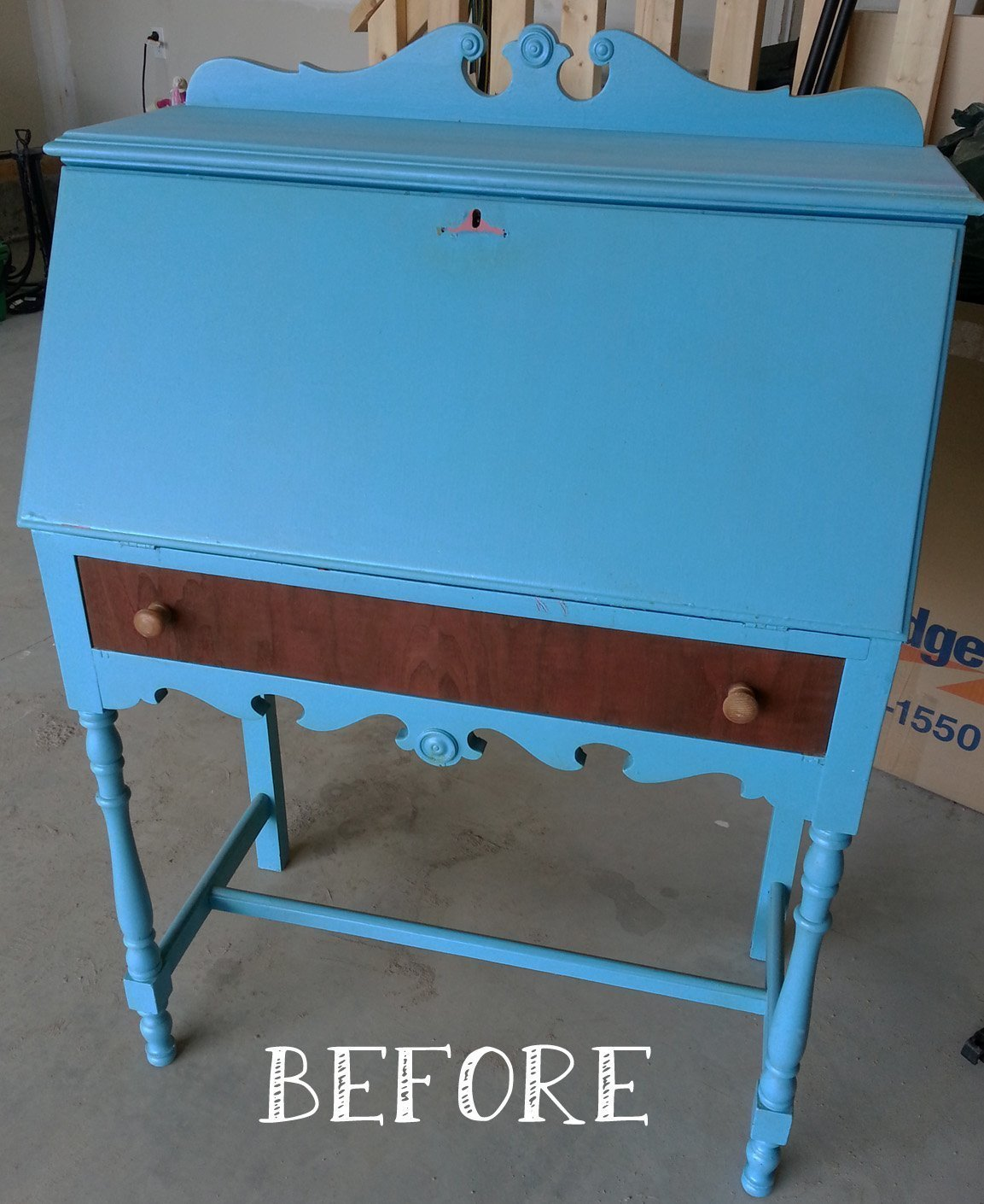 A Vintage Secretary Desk DIY