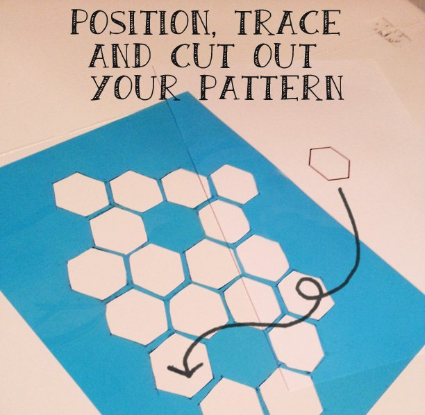 make a honeycomb stencil
