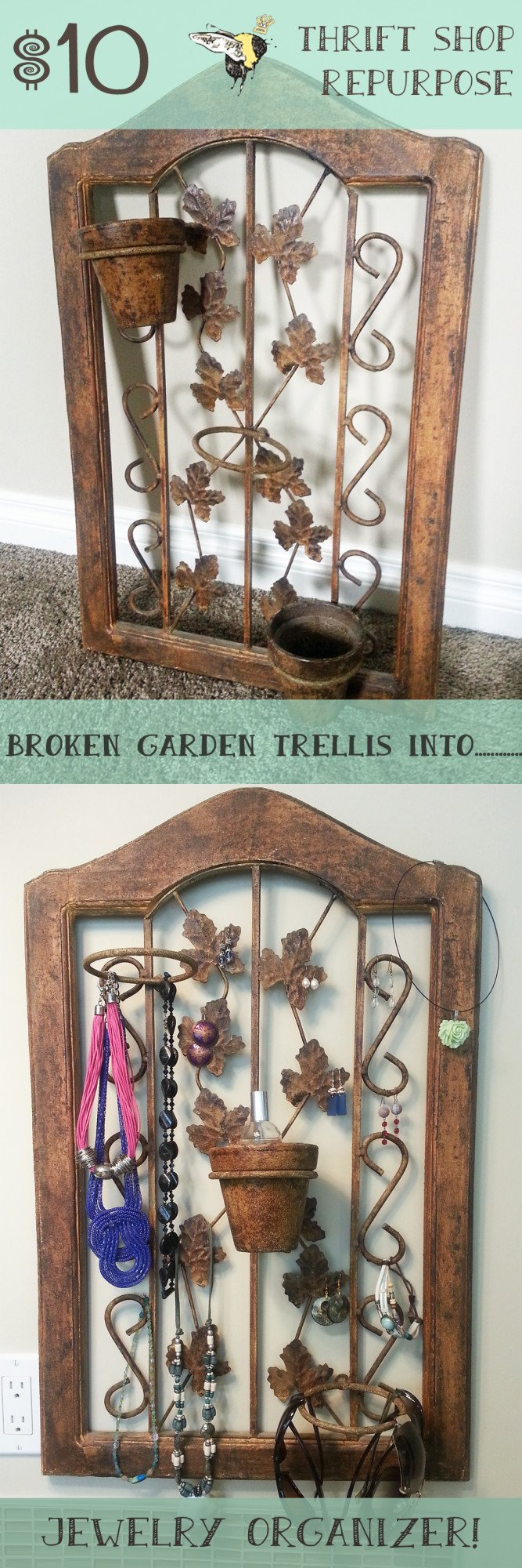 jewelry organizer before after