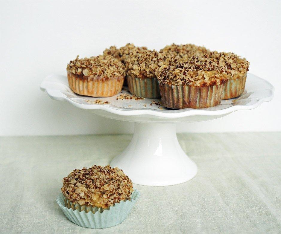 gluten free banana oat muffins