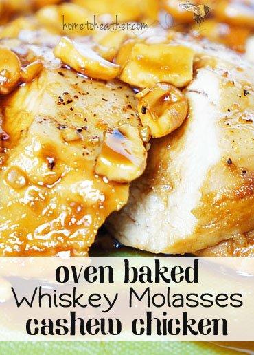 whiskey molasses oven baked chicken