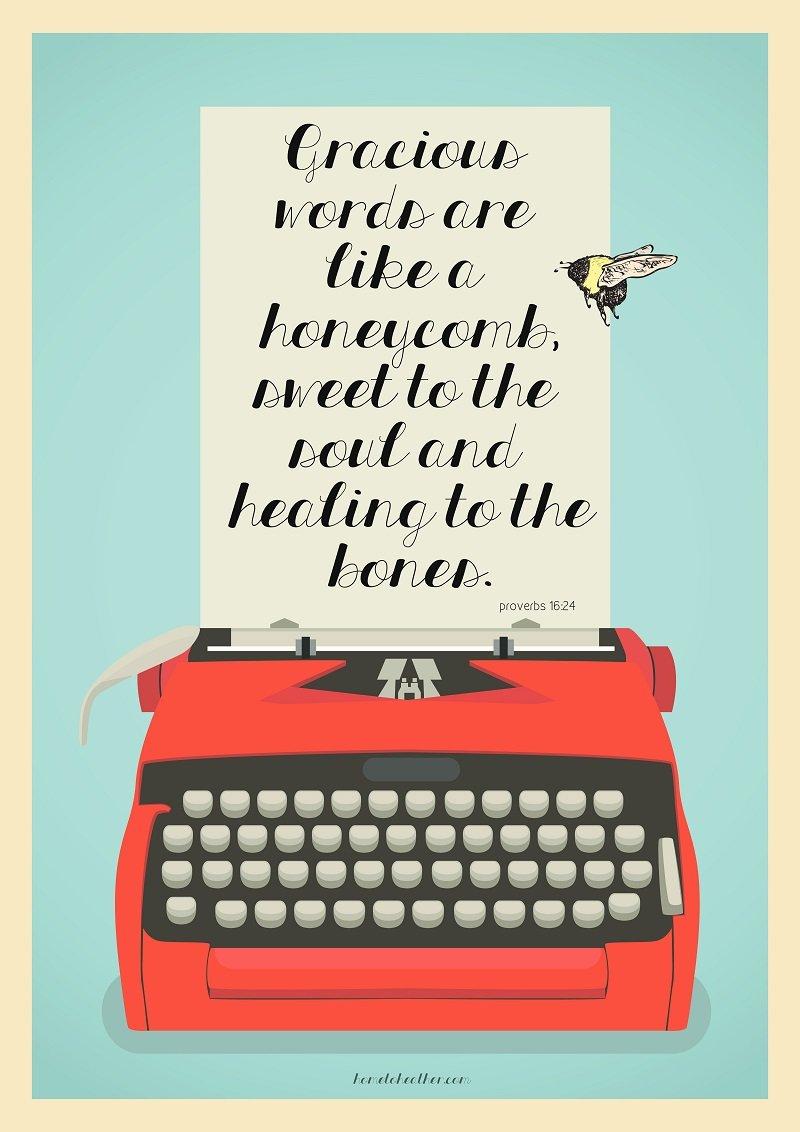 Gracious Words – Free Printable
