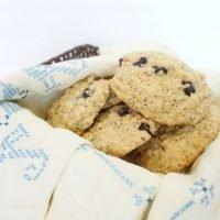 Blueberry, Lemon and Coconut Breakfast Cookies