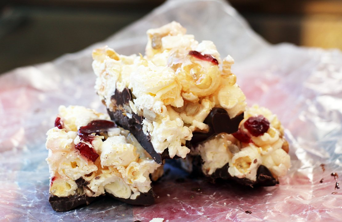candy popcorn bars