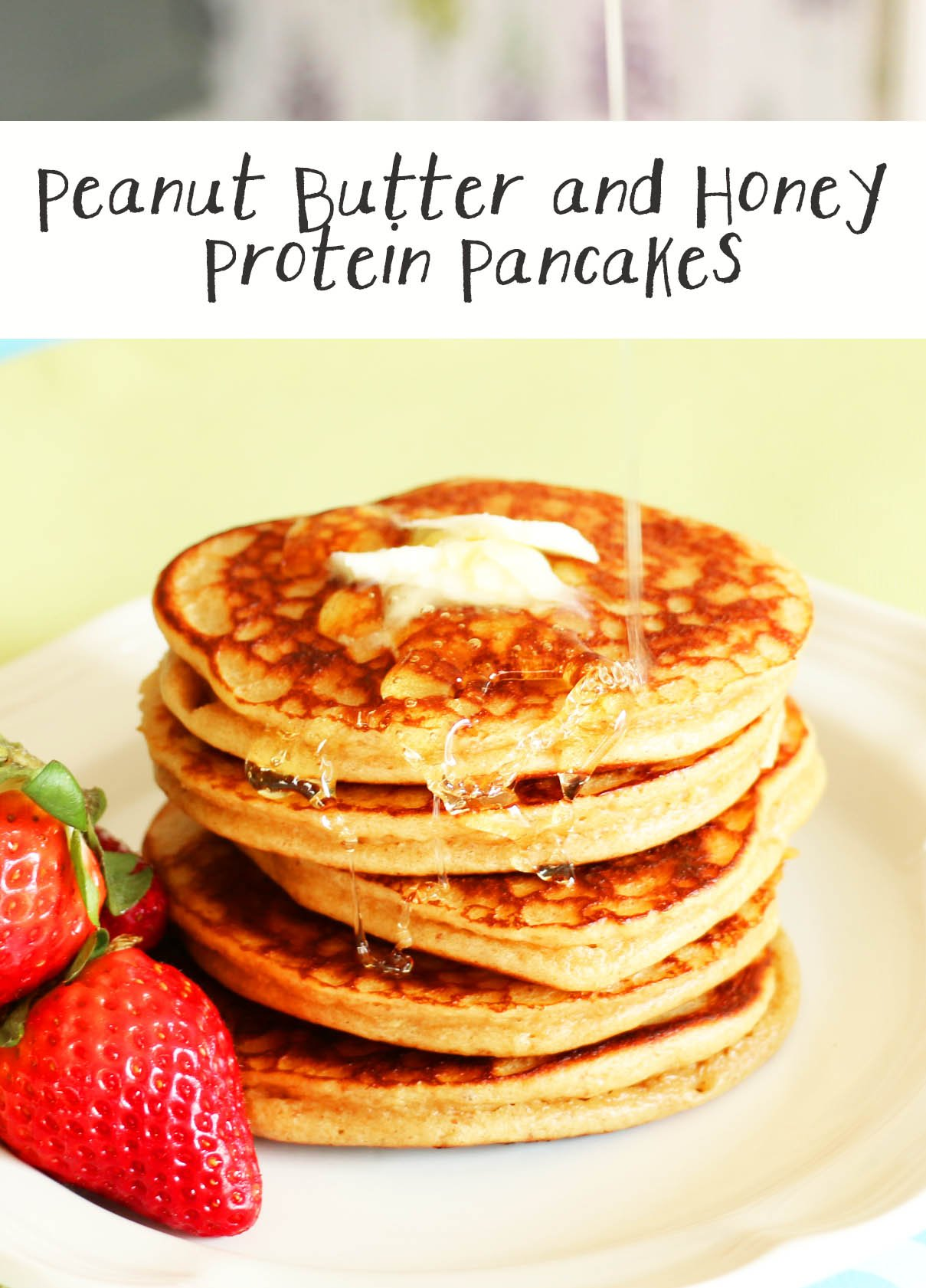gluten free peanut butter protein pancakes pin