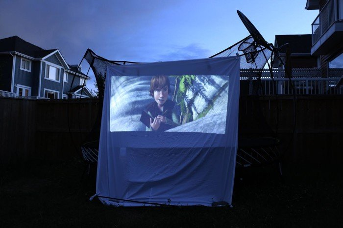 back yard movie night