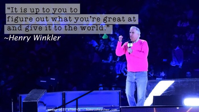 weday 2015 alberta henry winkler quote