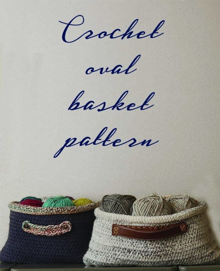 Free pattern crochet basket oval