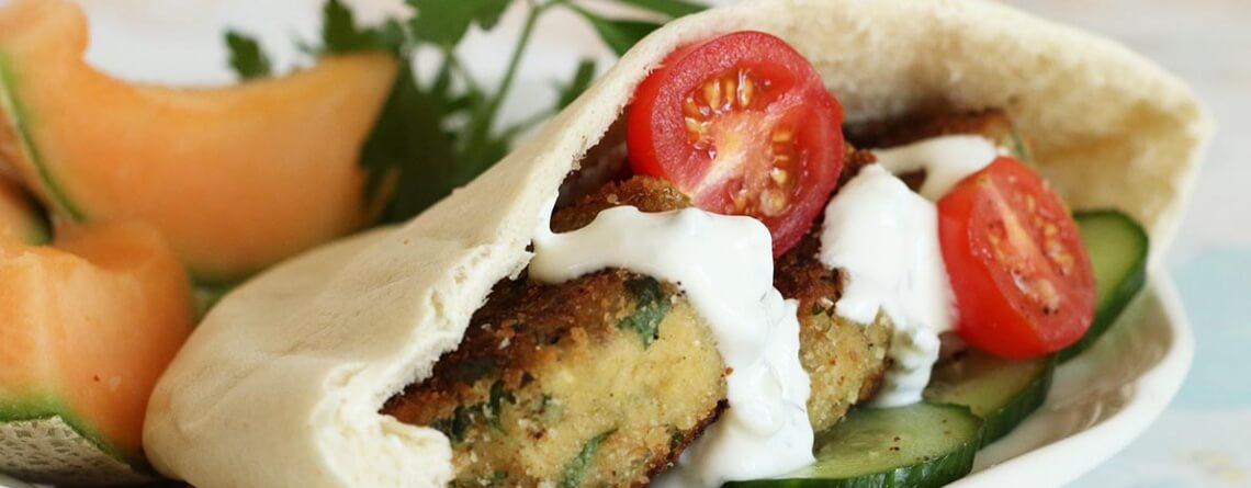 Easy Cheater Falafel Pitas