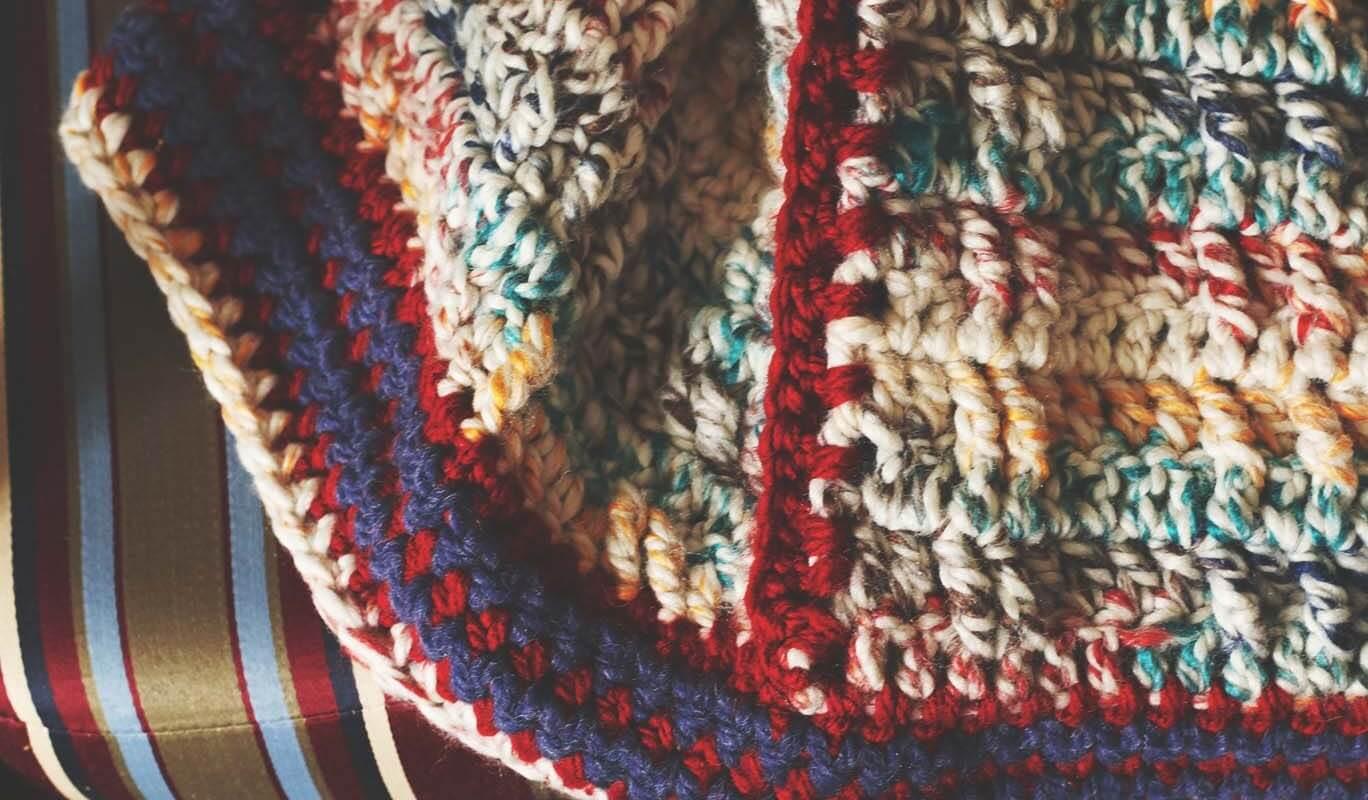 Faux Cable Crochet Blanket