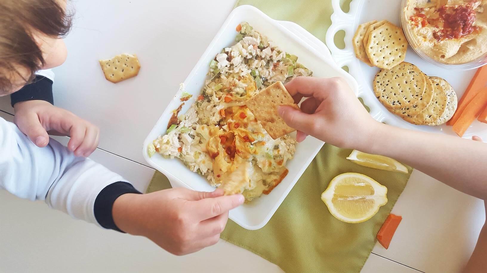 baked sabra hummus chicken salad