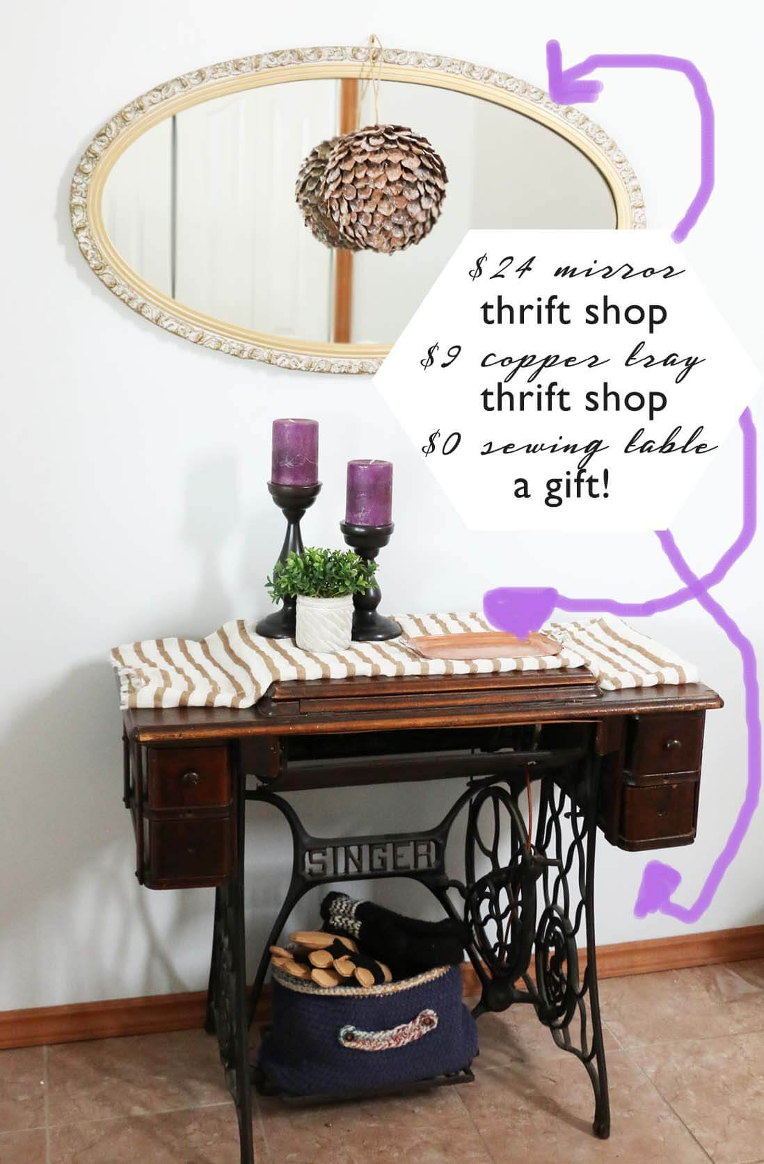 How to use Thrift Shop items in your decor