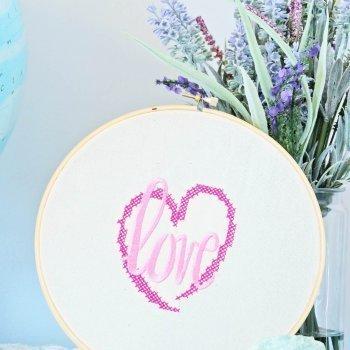 DIY Valentine's Embroidery Hoop Art