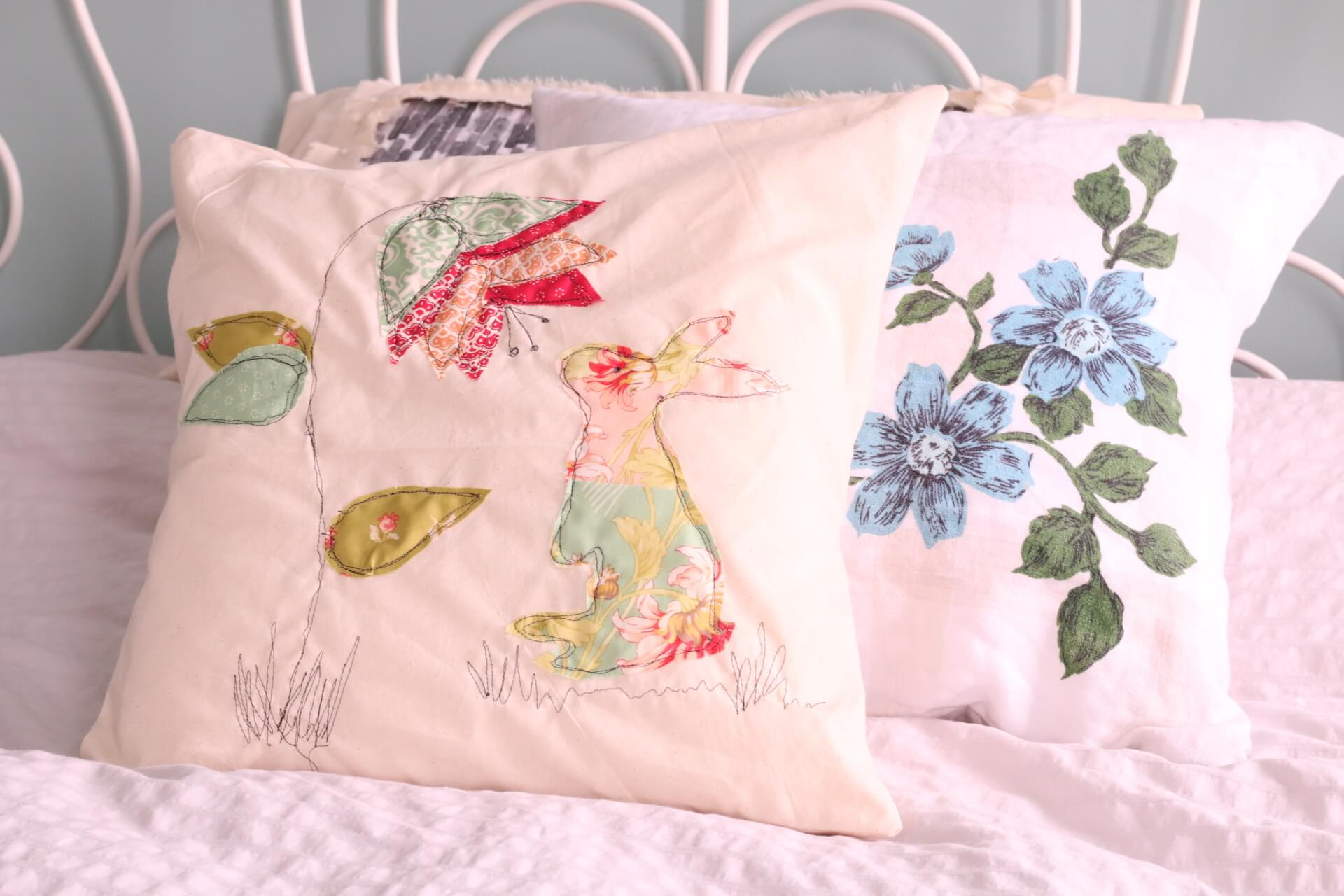 Free motion embroidery is something you can do on any sewing machine as long as you have the ability to lower your feed dogs (those little ridged bits under ... & A Spring Pillow Free Motion Embroidery Applique pillowsntoast.com