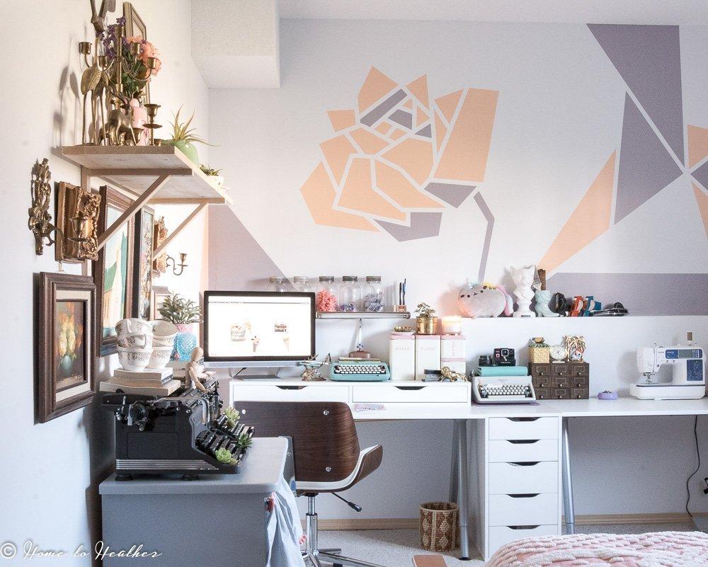 Craft Room Studio Makeover Room Tour