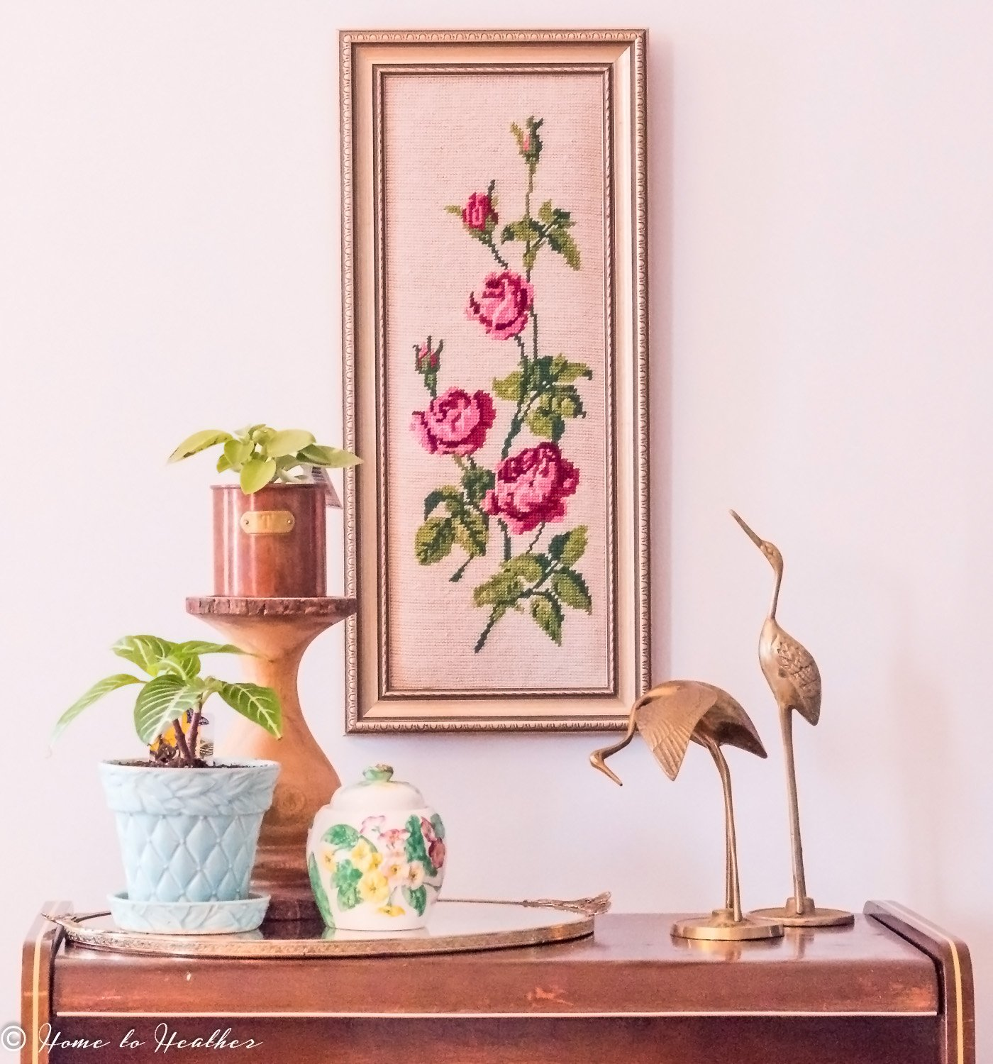 Using chintz in your home decor home to heather howldb for Retro home decor