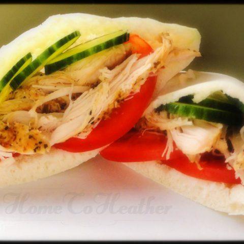 Slow Cooker Greek Turkey Pitas