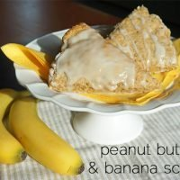 Peanut Butter and Banana Breakfast Scones