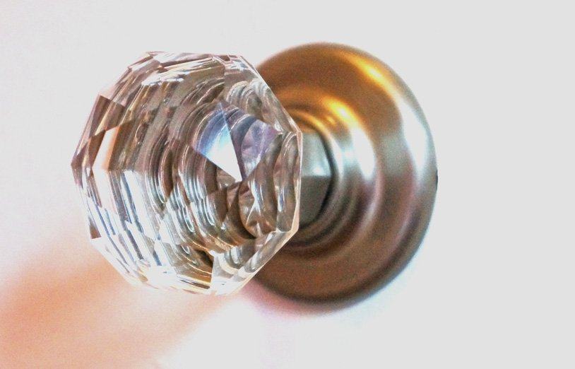 crystal dresser knob