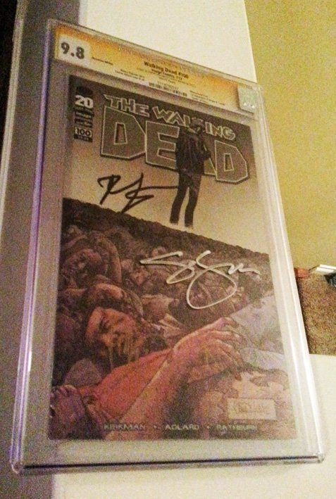 walking dead issue 100 signed