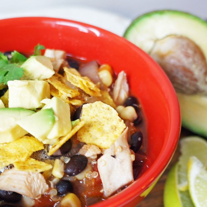 Mexican Fiesta Chicken Soup with Corn and Black Beans