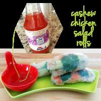 Cashew Chicken Salad Rolls