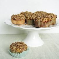 Banana Oat Muffins with Crumble Top