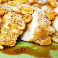 Oven Baked Whiskey Molasses Cashew Chicken