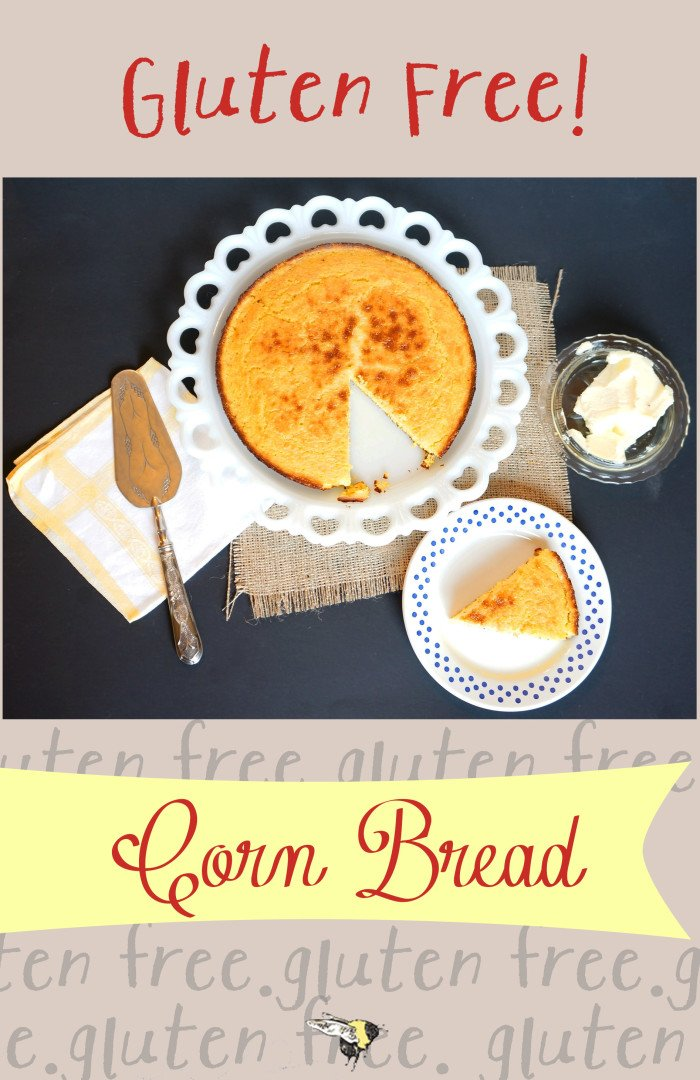 A traditional Southern corn bread turned #glutenfree.  The crust is crispy, the inside is fluffy and it's amazing slathered with butter!