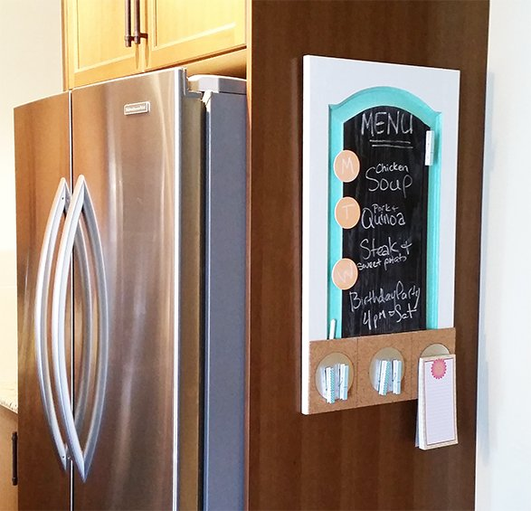 diy chalkboard menu board