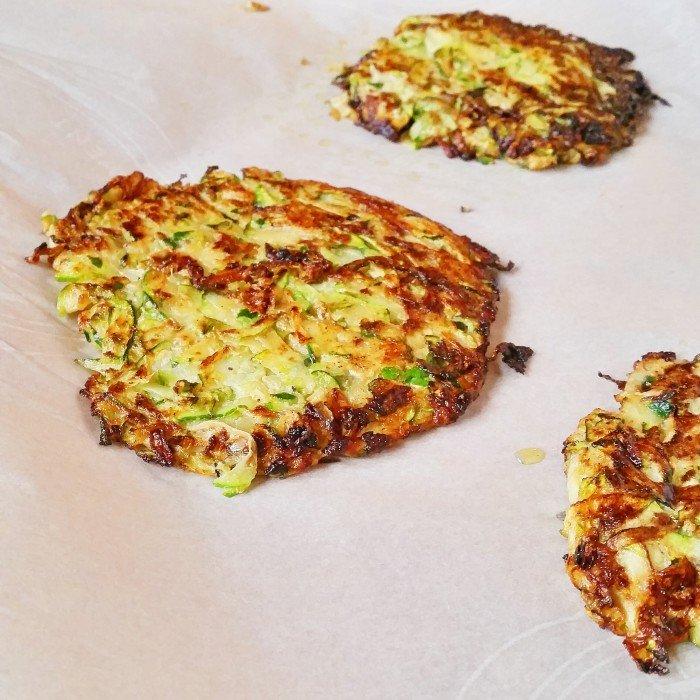 zucchini fritter eggs benedict muffin