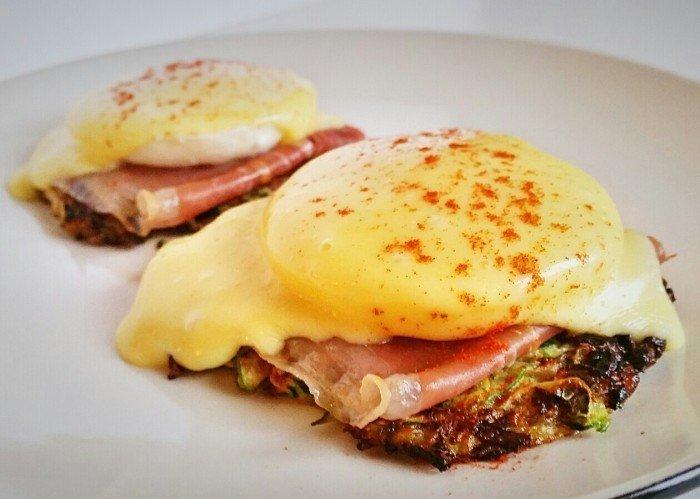 eggs benedict zucchini muffin