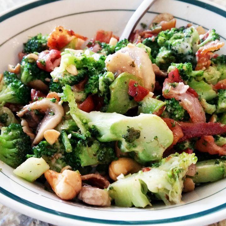 Hot Chicken and Broccoli Salad