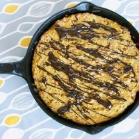 Butterscotch Pumpkin Spice Skillet Cookie