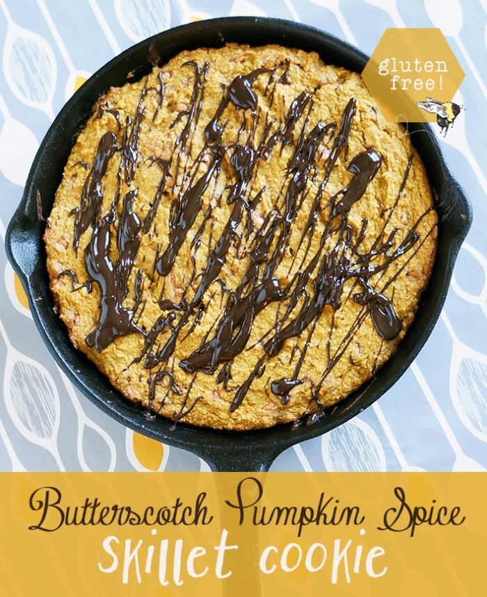 This is a fall treat to remember - Butterscotch Chips in a Pumpkin cookie?  YES.  I'm telling you, it's amazing.  Plus, this happens to be gluten free.