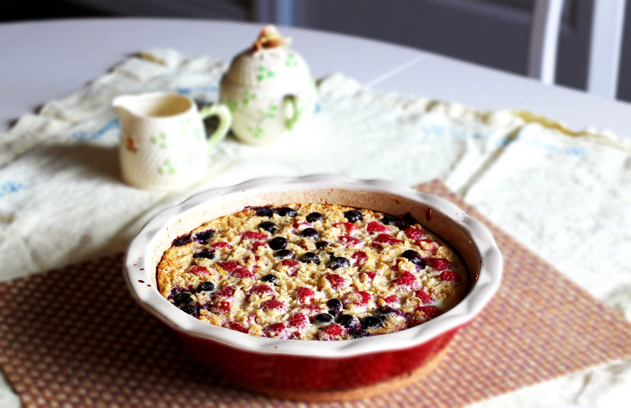 baked oatmeal lemon berry