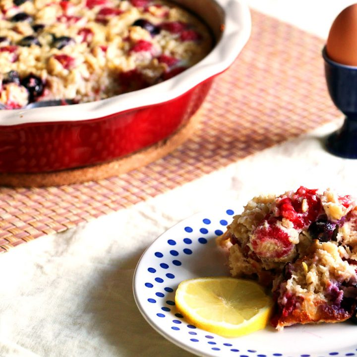 Berry Lemon Baked Oatmeal