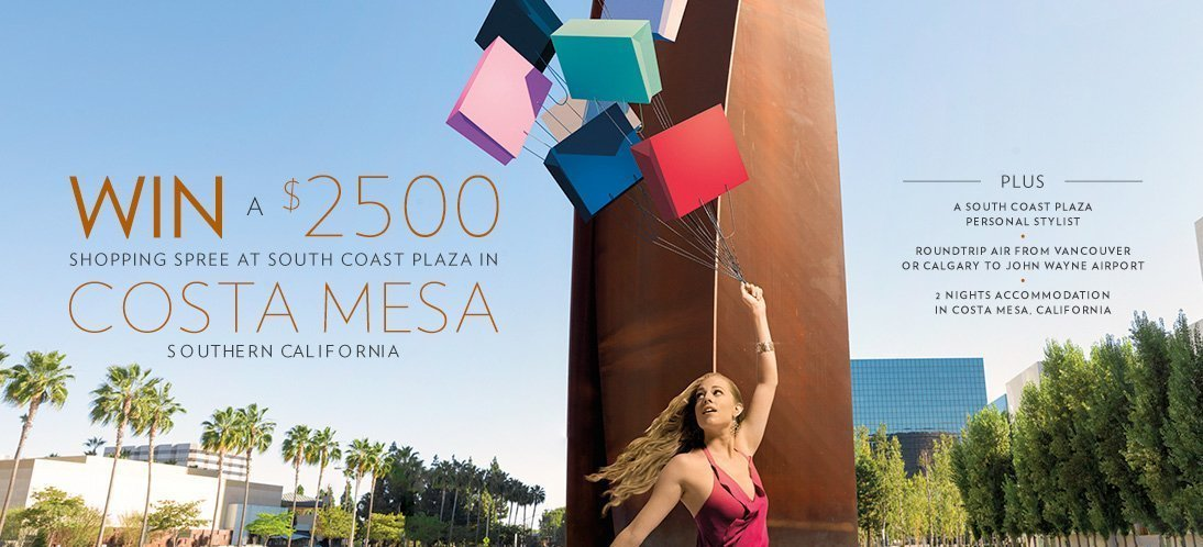 Win! Costa Mesa Trip and Shopping Spree (ended)