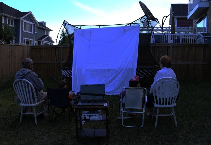 backyard movie party
