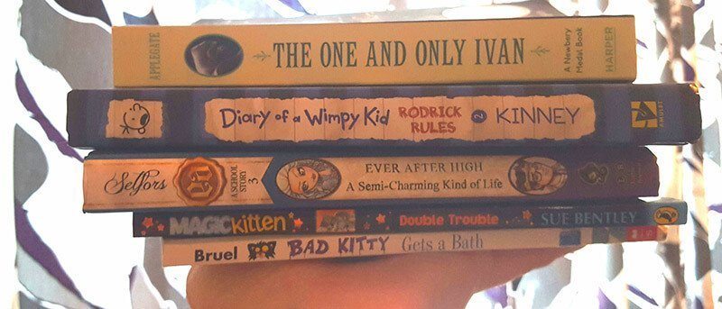My daughter likely has 100 books on her shelf. These are her top 5.