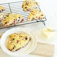 Pomegranate and Chocolate Scones