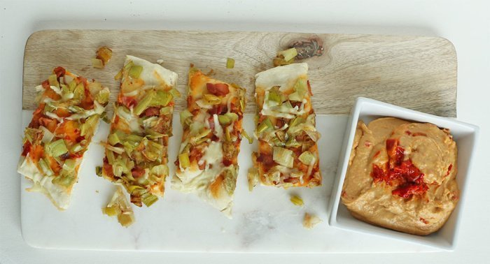 bacon leek flatbread