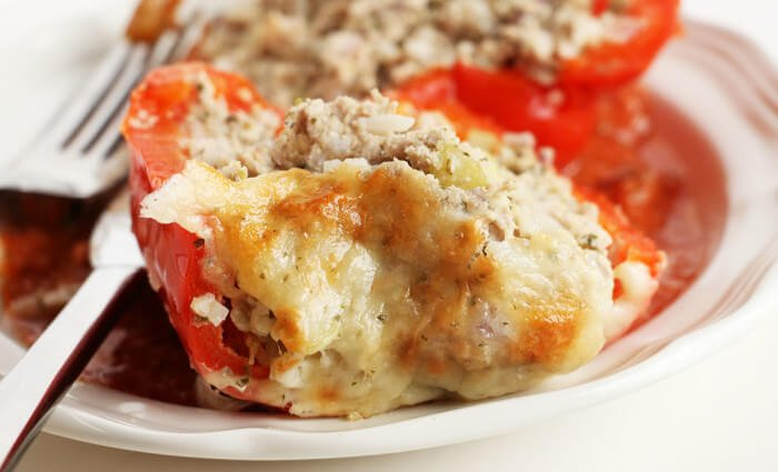 hummus turkey stuffed peppers