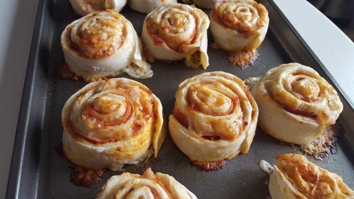 pizza dough pinwheels